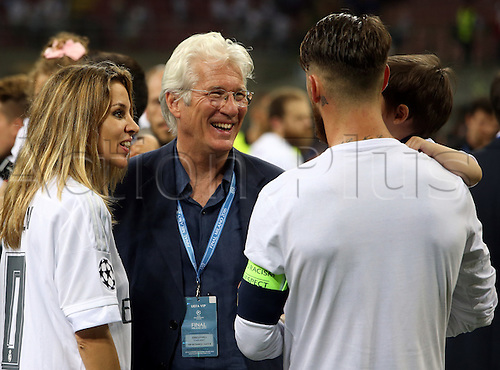 28.05.2016. Milan, Italy. UEFA Champions League Final between Real Madrid and Atletico de Madrid at the San Siro stadium in Milan, Italy. Richard Gere congratulates Sergio Ramos