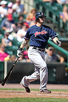 Pawtucket Red Sox designated hitter Jarrod Saltalamacchia during a game vs. the Rochester Red Wings at Frontier Field in Rochester, New York;  August 29, 2010.   Rochester defeated Pawtucket 6-3.  Photo By Mike Janes/Four Seam Images