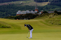 Maria Herraez Galvez (ESP) on the 1st green during Round 1 of the Women's Amateur Championship at Royal County Down Golf Club in Newcastle Co. Down on Tuesday 11th June 2019.<br /> Picture:  Thos Caffrey / www.golffile.ie<br /> <br /> All photos usage must carry mandatory copyright credit (© Golffile | Thos Caffrey)