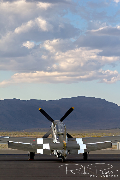 P-51 Mustang Speedball Alice on the ramp at Stead Field near Reno, Nevada