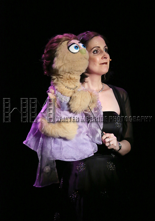 Kate Monster and Stephanie D'Abruzzo on stage at the Vineyard Theatre 2017 Gala at the Edison Ballroom on March 14, 2017 in New York City.