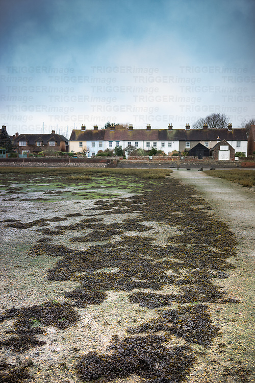 A row of old cottages in Bosham, West Sussex, England