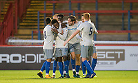 Celebrates as Beni Banningime of Everton scores the 2nd goal during the U23 Premier League 2 match between Chelsea and Everton at the EBB Stadium, Aldershot, England on 25 August 2017. Photo by Andy Rowland.