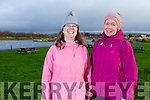 Josephine Francis (Ballybunion) and Lucille O'Sullivan (Listowel) warming up for the Let's get Kerry walking, National Operation Transformation Walk Day 5k walk in the Tralee Bay Wetlands on Saturday.