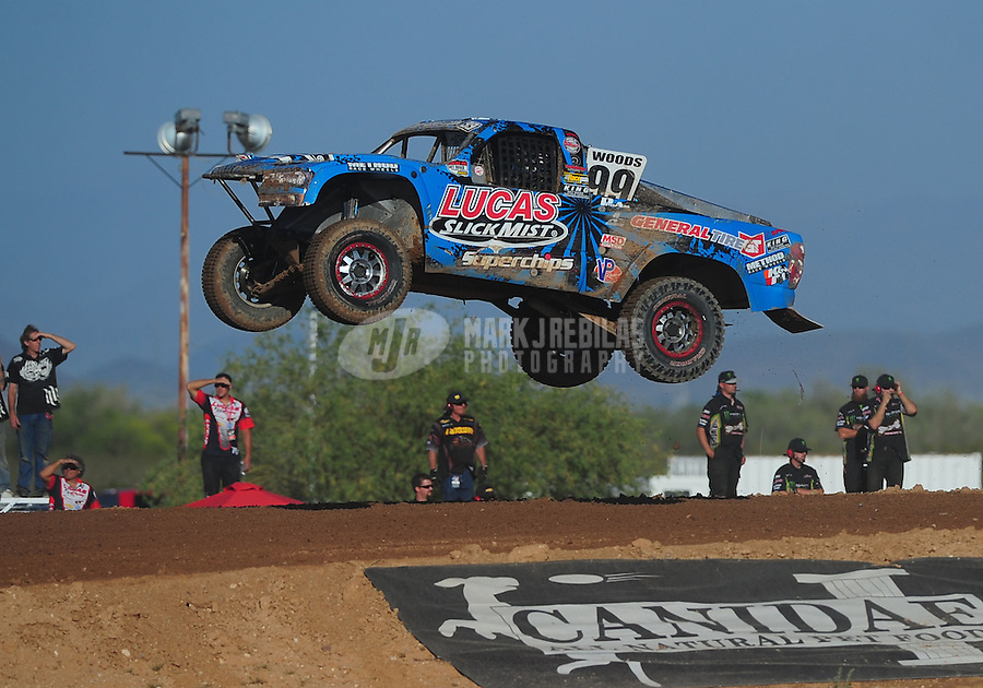 Apr 16, 2011; Surprise, AZ USA; LOORRS driver Robby Woods (99)during round 3 at Speedworld Off Road Park. Mandatory Credit: Mark J. Rebilas-