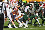 Iowa State Cyclones running back David Montgomery (32) in action during the game between the Iowa State Cyclones and the Baylor Bears at the McLane Stadium in Waco, Texas.