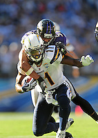 Sep. 20, 2009; San Diego, CA, USA; San Diego Chargers wide receiver (11) Legedu Naanee against the Baltimore Ravens at Qualcomm Stadium in San Diego. Baltimore defeated San Diego 31-26. Mandatory Credit: Mark J. Rebilas-