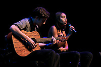 Occidental College students perform and compete during Apollo Night, one of Oxy's biggest talent showcases, on Feb. 22, 2019 in Thorne Hall. Sponsored by ASOC and hosted by the Black Student Alliance as part of Black History Month.<br /> <br /> Photo by Alex Yawata '21, La Encina
