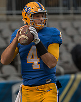 Pitt quarterback Nathan Peterman. The Pitt Panther defeated the Duke Blue Devils 56-14 at Heinz Field in Pittsburgh, Pennsylvania on November 19, 2016.