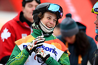 Day 7 / Snowboard banked SL. / Ben Tudhope  (AUS)<br /> PyeongChang 2018 Paralympic Games<br /> Australian Paralympic Committee<br /> PyeongChang South Kore<br /> Friday March 16th 2018<br /> &copy; Sport the library / Jeff Crow