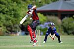 NELSON, NEW ZEALAND January 12: Cricket Stoke Nayland v Nelson College at Ngawatu on January 12 2019, Nelson, New Zealand (Photos by Barry Whitnall/Shuttersport Limited)