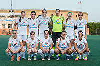 Boston, MA - Friday August 04, 2017: FC Kansas starting eleven during a regular season National Women's Soccer League (NWSL) match between the Boston Breakers and FC Kansas City at Jordan Field.
