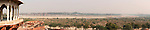 Panorama of Agra Fort, Yamuna River and Taj Mahal