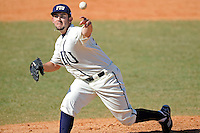 28 February 2010:  FIU's R.J. Fondon (19) pitches as the FIU Golden Panthers defeated the Oral Roberts Golden Eagles, 7-6 (10 innings), at University Park Stadium in Miami, Florida.