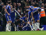 Chelsea's Willian celebrates scoring his sides opening goal<br /> <br /> Barclays Premier League- Chelsea vs Everton  - Stamford Bridge - England - 11th February 2015 - Picture David Klein/Sportimage