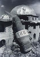 Partially destroyed mosque near Prizren, Kosovo.