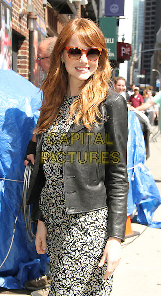 NEW YORK, NY - JULY 16: Emma Stone at Late Show with David Letterman in New York York City on July 16, 2014. <br /> CAP/MPI/RW<br /> &copy;RW/MPI/Capital Pictures