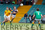 Tómas Ó'Sé of Kerry in action against James Glancy of Leitrim. All Ireland Junior Championship Semi-Final, Kerry V Leitrim. 22/07/2017. Gaelic Grounds, Limerick, Co Limerick.