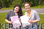 Rosie O'Halloran and Emma Lowham from Brookfield College took their first Leaving Cert. exam on Wednesay morning.