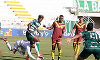 VALLEDUPAR-COLOMBIA, 19-02-2020: Valledupar F. C. y Deportes Quindio, durante partido de ida de la 1ra ronda de clasificacion de la Copa BetPlay DIMAYOR 2020 en el estadio Armando Maestre Pavajeau de la ciudad de Valledupar. / Valledupar F.C. and Deportes Quindio, during a match of the first leg of the 1st qualifying round of the BetPlay DIMAYOR Cup 2020 at the Armando Maestre Pavajeau de stadium in Valledupar city. / Photos: VizzorImage / Adamis Guerra / Cont.