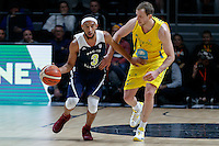 July 12, 2016: JORDAN MCLAUGHLIN (3) of the USC Trojans runs with the ball during game 1 of the Australian Boomers Farewell Series between the Australian Boomers and the American PAC-12 All-Stars at Hisense Arena in Melbourne, Australia. Sydney Low/AsteriskImages.com