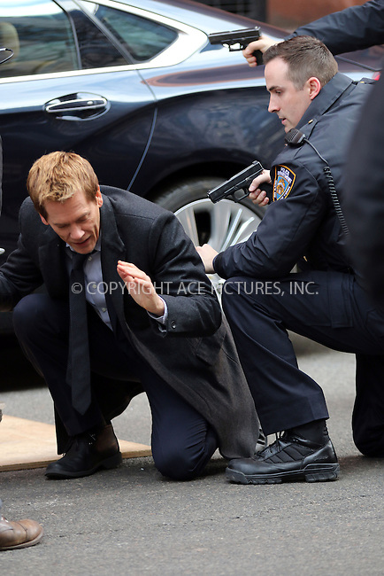 WWW.ACEPIXS.COM<br /> <br /> January 22 2015, New York City<br /> <br /> Actor Kevin Bacon shoots a scene for the TV show 'The Following' on January 22 2015 in New York City<br /> <br /> By Line: Zelig Shaul/ACE Pictures<br /> <br /> <br /> ACE Pictures, Inc.<br /> tel: 646 769 0430<br /> Email: info@acepixs.com<br /> www.acepixs.com