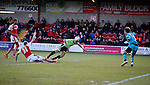 Che Adams of Sheffield Utd heads over the bar with this chance - English League One - Fleetwood Town vs Sheffield Utd - Highbury Stadium - Fleetwood - England - 5rd March 2016 - Picture Simon Bellis/Sportimage