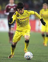 FUSSBALL   1. BUNDESLIGA  SAISON 2011/2012   20. Spieltag 1. FC Nuernberg - Borussia Dortmund         03.02.2012 Shinji Kagawa (Borussia Dortmund)