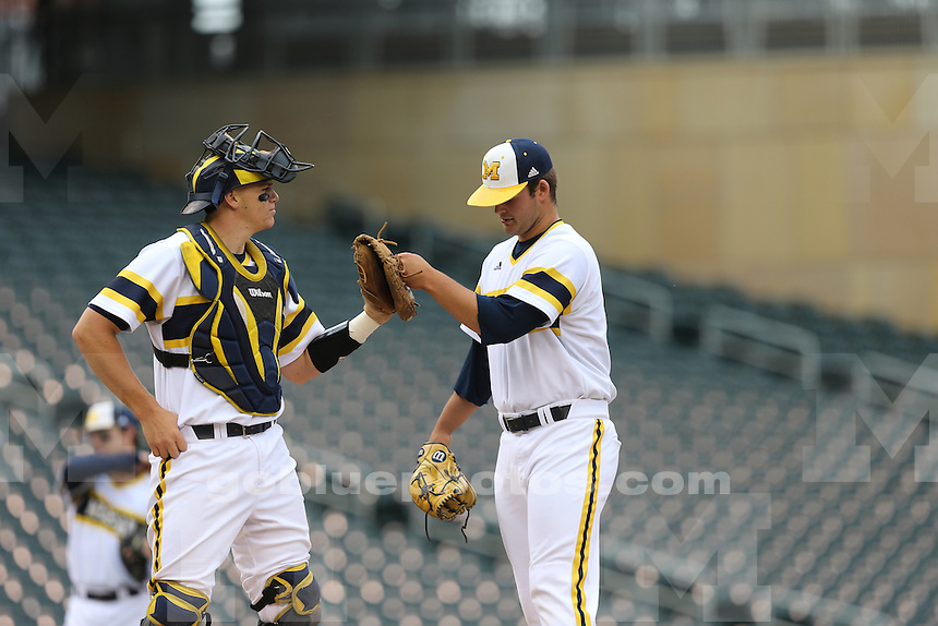 The University of Michigan baseball team capped a perfect Big Ten Tournament run with a 4-3 victory over Maryland in the championship final at Target Field in Minneapolis, Minn., on May 24, 2015.