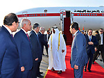 Egyptian President Abdel Fattah al-Sis welcomes to Abu Dhabi Crown Prince Sheikh Mohammed bin Zayed al-Nahyan after he arrives in Cairo International Airport on June 19, 2017. Photo by Egyptian President Office