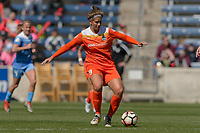 Bridgeview, IL - Saturday May 06, 2017: Sarah Hagen during a regular season National Women's Soccer League (NWSL) match between the Chicago Red Stars and the Houston Dash at Toyota Park. The Red Stars won 2-0.