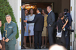 Spanish Royals King Juan Carlos of Spain, Queen Sofia of Spain, Prince Felipe of Spain and Princess Letizia of Spain receive Mexico´s President Enrique Pena Nieto and his wife Angelica Rivera at Zarzuela Palace in Madrid, Spain. June 09, 2013. (ALTERPHOTOS/Victor Blanco)