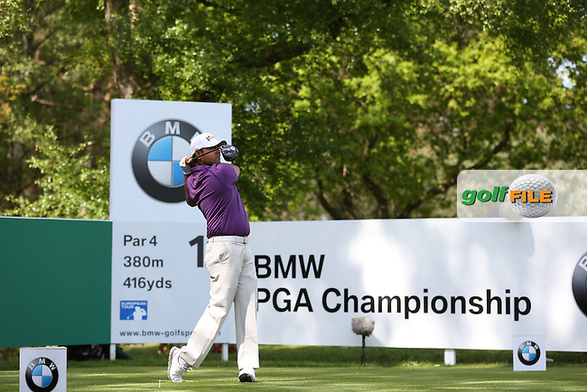 Anirban Lahiri (IND) during Round One of the 2015 BMW PGA Championship over the West Course at Wentworth, Virginia Water, London. Picture David Lloyd, www.golffile.ie: 21/05/2015
