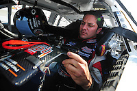 May 2, 2008; Richmond, VA, USA; NASCAR Nationwide Series driver David Stremme during the Lipton Tea 250 at the Richmond International Raceway. Mandatory Credit: Mark J. Rebilas-