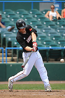 University of Louisville Cardinals infielder Danny Rosenbaun (8) during a game against the Temple University Owls at Campbell's Field on May 10, 2014 in Camden, New Jersey. Temple defeated Louisville 4-2.  (Tomasso DeRosa/ Four Seam Images)