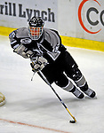 7 February 2009: Providence College Friars' center Kyle MacKinnon, a Sophomore from Walnut, CA, in action against the University of Vermont Catamounts during the second game of a weekend series at Gutterson Fieldhouse in Burlington, Vermont. The Catamounts swept the 2-game series notching 4-1 wins in both games. Mandatory Photo Credit: Ed Wolfstein Photo