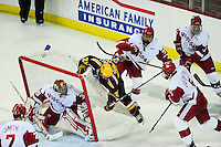 The University of Wisconsin men's hockey team ties Minnesota 2-2 on Friday at the Kohl Center in Madison