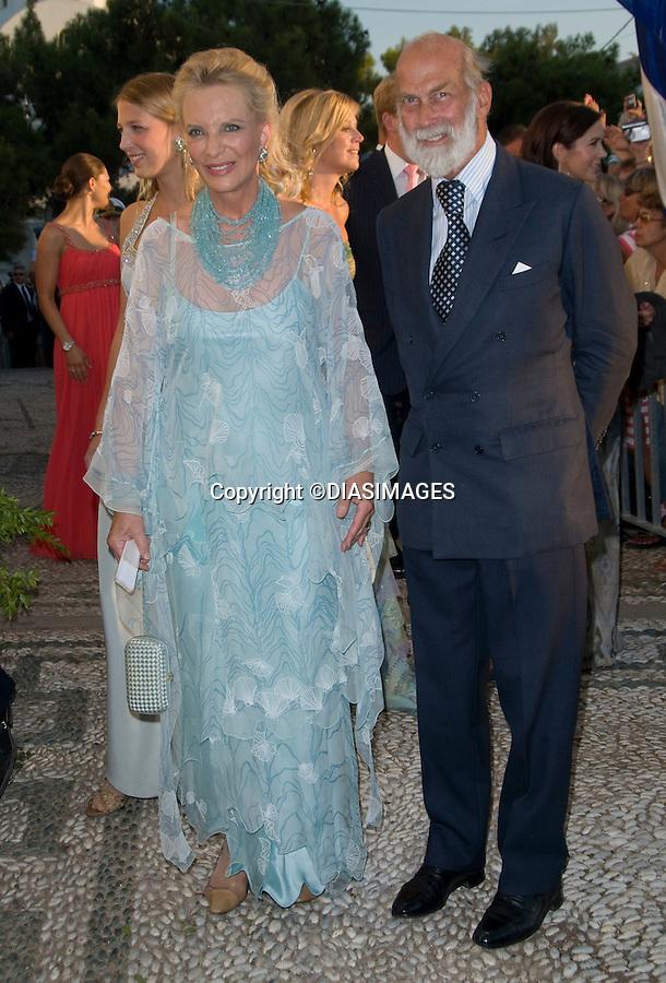 "PRINCE NIKOLAOS AND TATIANA BLATNIK WEDDING_Prince and Princess Michael of Kent.St Nikolaos Church, Spetses, Greece_25/08/2010.Mandatory Credit Photo: ©DIASIMAGES..**ALL FEES PAYABLE TO: ""NEWSPIX INTERNATIONAL""**..IMMEDIATE CONFIRMATION OF USAGE REQUIRED:.Newspix International, 31 Chinnery Hill, Bishop's Stortford, ENGLAND CM23 3PS.Tel:+441279 324672  ; Fax: +441279656877.Mobile:  07775681153.e-mail: info@newspixinternational.co.uk"