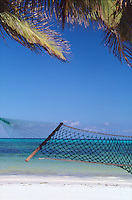 A hammock in tropical beach
