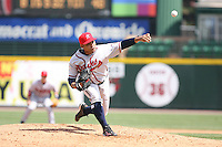 April 17th, 2008:  Pitcher Francisley Bueno (33) of the Richmond Braves, Class-AAA affiliate of the Atlanta Braves, delivers a pitch during a game at Frontier Field in Rochester, NY.  Photo by:  Mike Janes/Four Seam Images