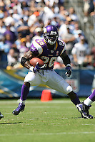 09/11/11 San Diego, CA: Minnesota Vikings running back Adrian Peterson #28 during an NFL game played at Qualcomm Stadium between the San Diego Chargers and the Minnesota Vikings. The Chargers defeated the Vikings 24-17.