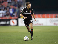 7 May 2005. DC United defender Brandon Prideaux (4) looks for a pass  at RFK Stadium in Washington, DC.