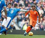 24.3.2018: Rangers legends match:<br /> Pedro Mendes with Lee McCulloch and Barry Ferguson