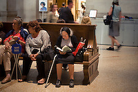 Visitors in the lobby of the Metropolitan Museum of Art in New York on Friday, July 2, 2010. (© Richard B. Levine)