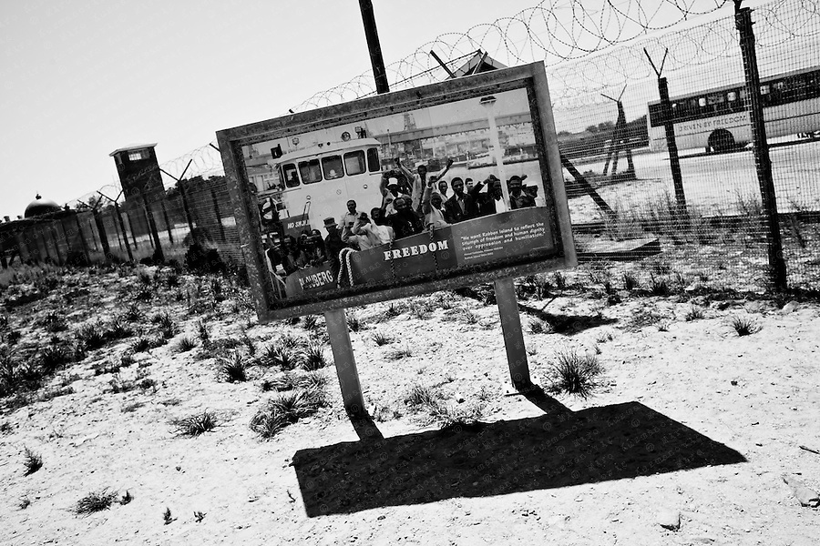 Entrance to Maximum Security Prison on Robben Island, South Africa, March 16, 2011. Former ANC president and Nobel Peace Prize winner Nelson Mandela spent much of his 27-year imprisonment on Robben Island..
