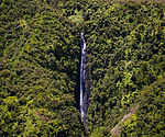Aerial view of the Waihilau Falls area of the Big Island of Hawaii