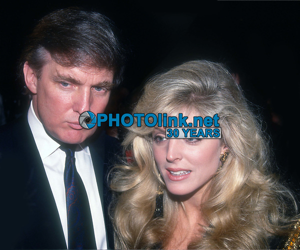 Donald Trump Marla Maples 1991<br /> Photo By John Barrett/PHOTOlink.net