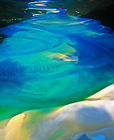 Sand Patterns at Cook Inlet  Great Barrier Reef Marine Park, Queensland, Australia  Discovered by Captain Cook  Morning