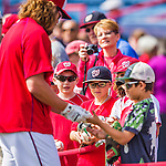 5 March 2016: Washington Nationals outfielder Jayson Werth signs autographs prior to a Spring Training pre-season game against the Detroit Tigers at Space Coast Stadium in Viera, Florida. The Nationals defeated the Tigers 8-4 in Grapefruit League play. Mandatory Credit: Ed Wolfstein Photo *** RAW (NEF) Image File Available ***