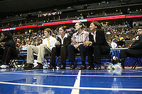 20 March 2006: Tina Samaniego, trainer Kelly Clark and Marcella Shorty during Stanford's 88-70 win over Florida State in the second round of the NCAA Women's Basketball championships at the Pepsi Center in Denver, CO.